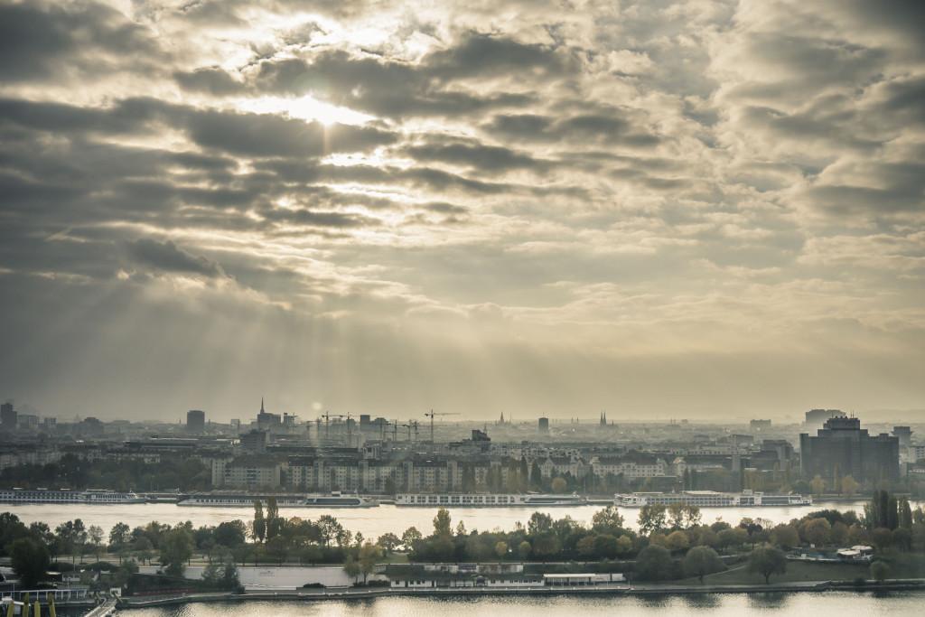 Vienna International Center - Strabag Office City Scape View